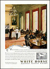 1948 The Beaux Club London White Horse Scotch whisky vintage art print ad ads64