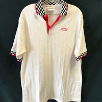 Chevrolet White Polo Pullover Shirt Chevy Mens XL Racing