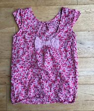 ☆☆☆ VERTBAUDET ~ GIRLS FLORAL TOP WITH LOW SCOOP BACK & BOW ~ AGE 10 ~ NEW ☆☆☆