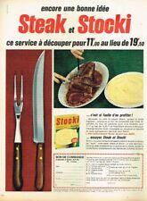 C- Publicité Advertising 1967 La Purée Stocki