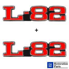 C3 CORVETTE 75-79 L-82 HOOD EMBLEMS OFFICIAL GM RESTORATION EMBLEM BOTH SIDES