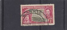"SOUTHERN RHODESIA ""WANKIE"" POSTMARK ON 1d 1937 CORONATION NICE USED"