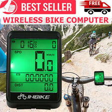 Wireless Lcd Digital Bicycle Computer Bike Backlight Speedometer Odometer Usa