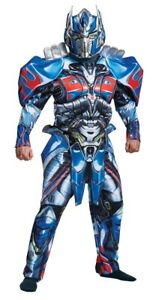 Optimus Prime Deluxe Muscle Adult Costume Mens Transformers Halloween