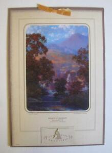 RARE 1950 MAXFIELD PARRISH BROWN & BIGELOW SALESMANS SAMPLE CALENDAR SUNLIT VALL