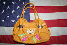 Yellow Embellished Retro Pleather Purse Siz Medium: satchel/handbag/tote #3313