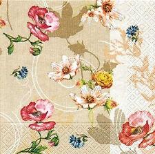 *Paper+Design*20 Servietten*Fleurs d´ete'*Sommer-Blumen*