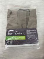 Cortland Men's XL/XXL Tan Fly Fishing Vest Lot Fitted Pockets Zip Up Lightweight