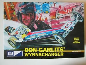 1/25 scale Don Garlits' Wynnscharger by MPC. Kit is complete in box.