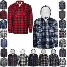 Unbranded Checked Hooded Cotton Casual Shirts & Tops for Men