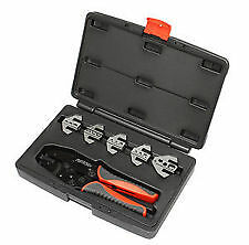 PERTRONIX T-3001 QUICK CHANGE 6-PC RATCHET CRIMP TOOL KIT PLASTIC CASE