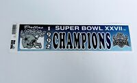 VTG Dallas Cowboys Super Bowl XXVII Champions Football Bumper Sticker NFL 1992