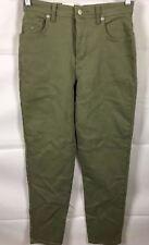 Gloria Vanderbilt Skinny Jeans Women's Sz 6P Green Stretch High Waist Cotton