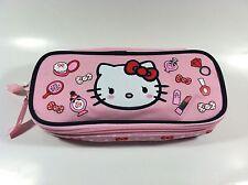 Sanrio Hello Kitty Pink Color Multi-Use Pouch Has Zipper Closure & Compartment