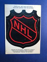 1973-74 O-Pee-Chee NHL Logo Punch Out Lick And Stick Insert Card