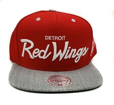 Detroit Red Wings Mitchell & Ness Special Script Vintage Snapback Hat Cap  NHL