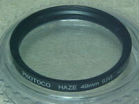 PHOTOCO 49MM UV HAZE FILTER IN PLASTIC CASE