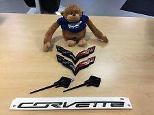 "GENUINE GM 2015 CORVETTE STINGRAY C7 EMBLEM SET ""CARBON FLASH"" GM# 23465587"
