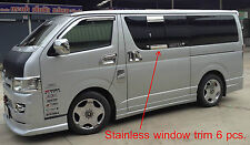 CHROME STAINLESS WINDOW EDGE TRIM SURROUND TOYOTA VAN HIACE COMMUTER 2005-20013