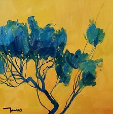 JOSE TRUJILLO Oil Painting IMPRESSIONISM BLUE TREE ORIGINAL MODERN ARTIST NR