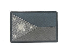 REPUBLIC OF THE PHILIPPINES NATIONAL FLAG MORALE HOOK PATCH SWAT ACU GRAY BADGE
