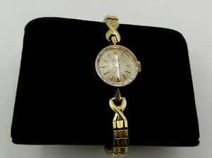VINTAGE 14K GOLD GIRARD PERREGAUX  LADIES WATCH WITH TWO TONE SPEIDEL TWIST BAND