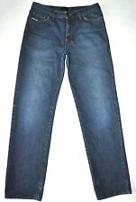 """Just Cavalli Men's Dark Blue Jeans Button Fly Actual Measurements W31"""" L33"""" Tall"""