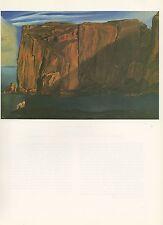 """1976 Vintage SALVADOR DALI """"FIGURE o/t ROCKS, PENYA SEGATS"""" Color Art Lithograph"""