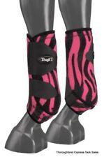 Tough-1 Pink Zebra Extreme Vented Neoprene Medium Rear Sport Boots Horse Tack