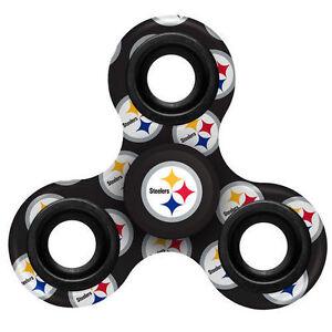 Pittsburgh Steelers Football Multi Logo Printed NFL 3 Way Hand Fidget Spinner