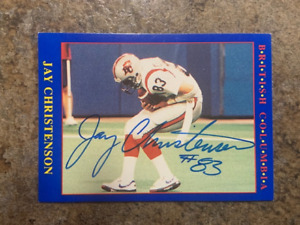 signed in person   JAY CHRISTENSEN   CFL   BC LIONS   JOGO # 189   1990