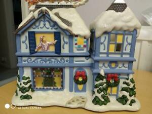 PARTYLITE 'THE NIGHT BEFORE CHRISTMAS MUSICAL TEALIGHT HOUSE - P 8651 - BOXED