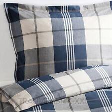 IKEA KUSTRUTA biancheria letto copripiumino 140x200 cm set a quadri blu 2-tlg.