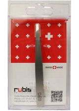 "RUBIS Switzerland Classic 3 ¾"" Slanted Tip Tweezer Stainless Steel R1K102"