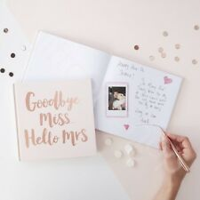 Rose Gold 'Goodbye Miss Hello Mrs' Advice Book Team Bride Hen Party Guest Book