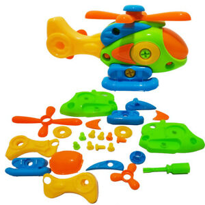 Assembly Helicopter Toy With Screwdriver Gift Vehicles With Function For Kids