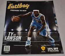 MINT! Eastbay Catalog TY LAWSON Cover Denver Nuggets #3 Nike November 2013
