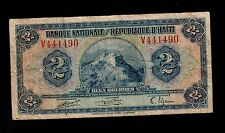 HAITI   2  GOURDES  L. 1919  V  PICK # 171  VG-F.