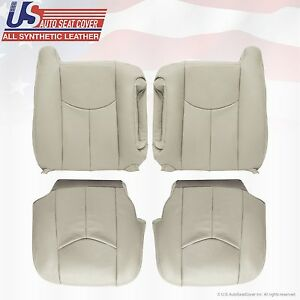 2003 - 06 Chevy Tahoe Suburban Synthetic leather seat OEM replacement 522 Tan