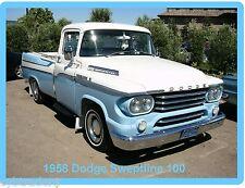 1958 Dodge Sweptline 100 Pickup  Refrigerator / Tool Box Magnet  Man Cave