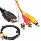 1.5m HDMI Male to 3 RCA Audio Video Converter Component AV Adapter Cable HDTV HD