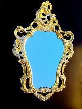 Espejo de pared 76x49cm ANTIGUO oro-blanco baño oval barroco Repro 3039
