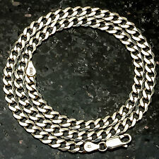"Curb120- 20"" 4.5mm Heavy 18 Gram Italian Link .925 Sterling Silver Chain 20"""