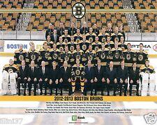 2012-2013 BOSTON BRUINS STANLEY CUP 8X10 TEAM PHOTO PAILLE BERGERON KAREJCI RASK