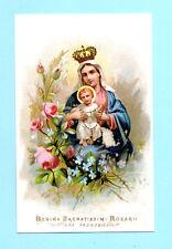 Santino Antico CROMO IMAGE PIEUSE - HOLY CARD SANTINI REGINA SACRATISSIMI ROSARI