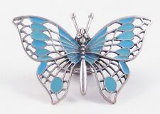 One Brand New Casted Filigree Butterfly Stretch Ring With Crystal Eyes #R1061