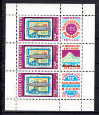 HUNGARY MAGYAR 1977 Aviation Zeppelin Sheetlet with Labels MNH - FREE SHIPPING