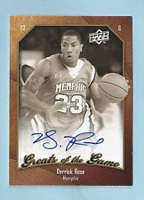 DERRICK ROSE 2010 GREATS OF THE GAME AUTOGRAPH AUTO CHICAGO BULLS