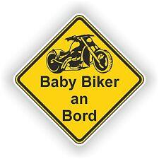Baby Biker an Bord Aufkleber Autoaufkleber LKW 10cm x 10cm Custom Chopper #02