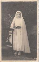 Carte  photo ancienne de communion No 3